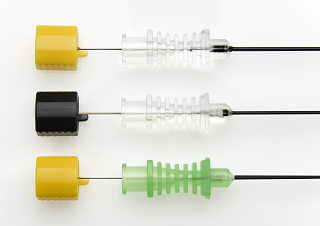 Illustration of a sfm Radiofrequency (RF) Needles